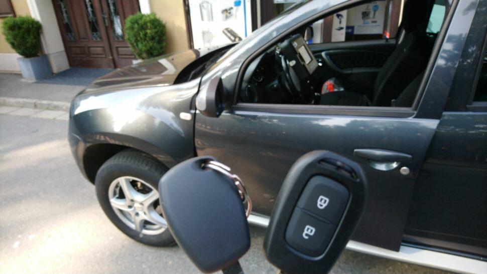Dacia Duster 2016 - klíč sdálkou